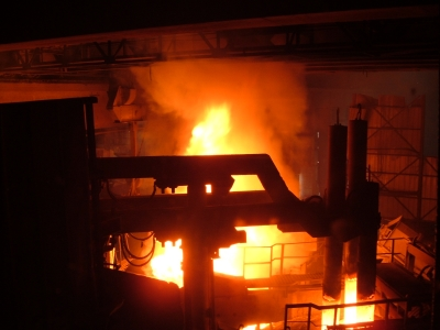 תמונה ממפעל ההתכה של חוד מתכות