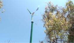 טורבינת רוח של חברת ישראוינד באתר חברת החשמל - צילום: ארנון מעוז