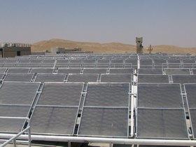 """חווה סולרית בבית ספר לקצינים, מנצל את שפע השמש בדרום – צילום: ארכיון צה""""ל"""