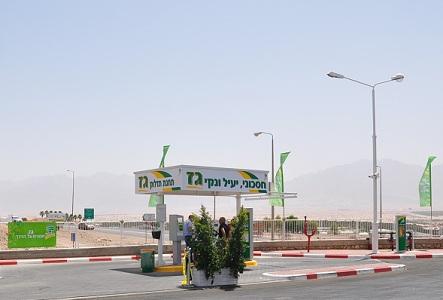 תחנת תדלוק בגז באילת - צילום: דור אלון