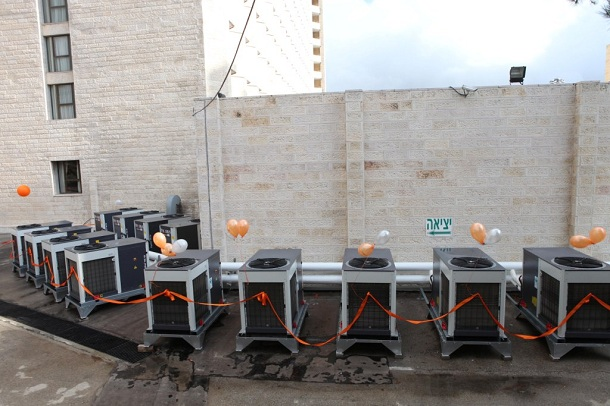 מערכת הידרה של פבוס במלון רמדה ירושלים - צילום: פבוס אנרגיה