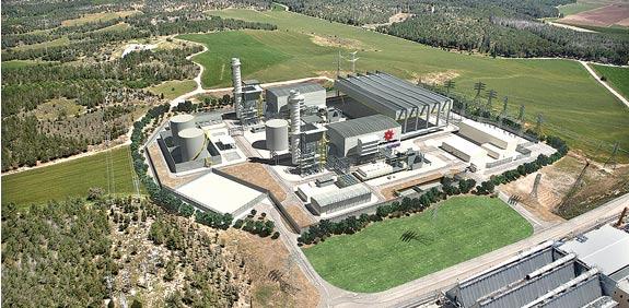 """דימוי של תחנת הכוח דליה. צילום: יח""""צ"""
