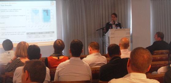 ג'וליאן ברגהולד, ראש יחידות העסקים של טכנולוגיה פוטו-וולטאית ומחקר ופיתוח של חברת PI Berlin. כנס PID. צילום: אדיר פטל