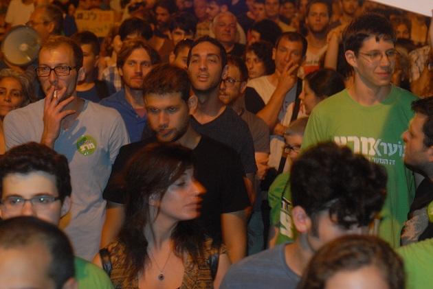 ירון זליכה, הפגנת הגז בתל אביב 4.7.15. צילום: אדיר פטל, תשתיות