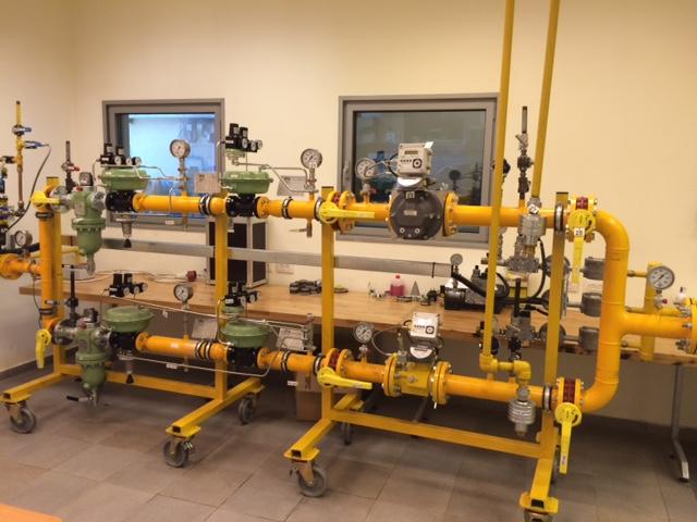 מערכת PRMS (מערכת הפחתת לחץ) במעבדת הלימודים של פזגז. צילום: פזגז