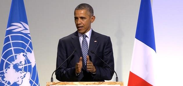 ברק אובמה בוועידת האקלים בפריז