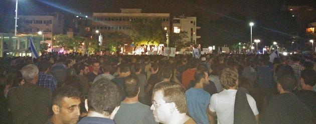 הפגנת הגז בכיכר הבימה, 15.11.15. צילום: אדיר פטל, תשתיות