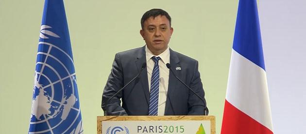 השר להגנת הסביבה, אבי גבאי, בוועידת האקלים בפריז