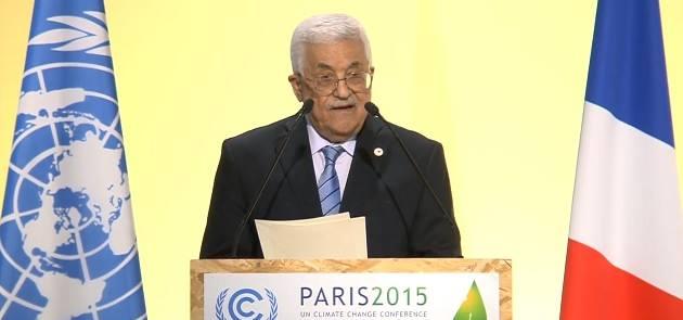 מחמוד עבאס (אבו מאזן) בוועידת האקלים הבינלאומית