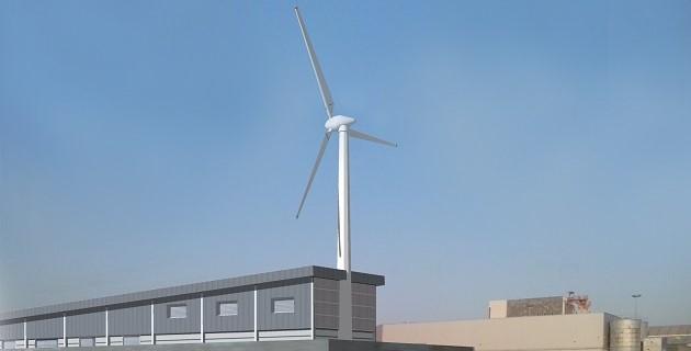 הדמיה של טורבינת הרוח של חברת מטלון אנרגיה מתחדשת באילת