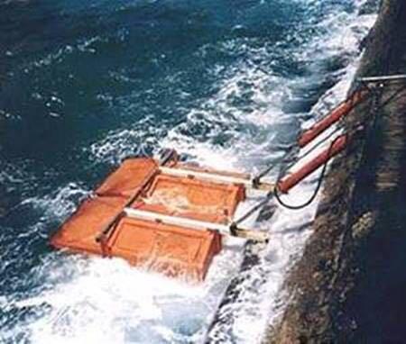Ocean Wave Generator at the port of Jaffa in Israel