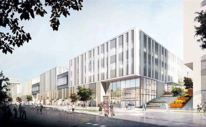 הדמיה של מרכז הקניות Lippulaiva של סיטיקון בפינלנד