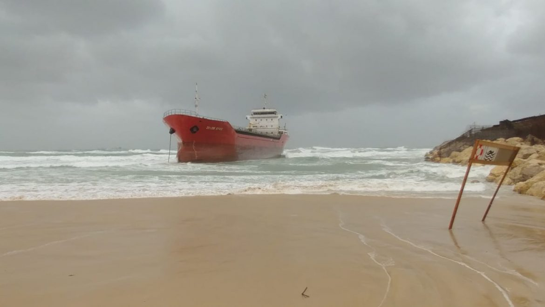 עדכון מהמשרד להגנת הסביבה – היסחפות אונייה אל החוף מדרום לנמל אשדוד