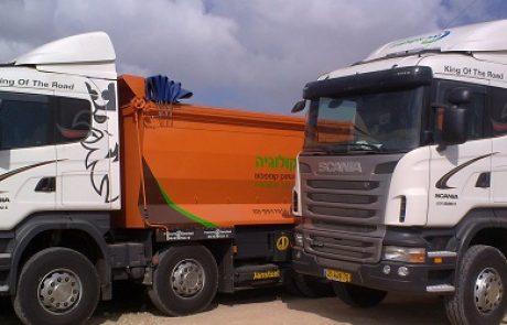 נגב אקולוגיה השקיעה 10 מיליון שקלים בהגדלת צי המשאיות שלה