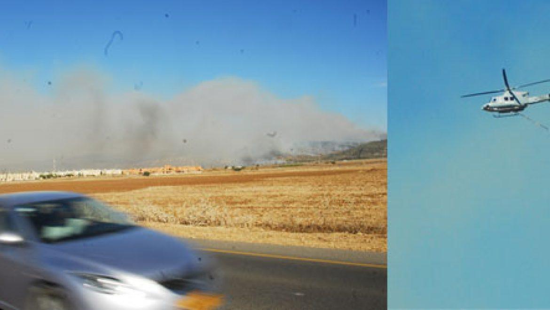 מסתמן: חשש סביר להצתה מכוונת האש פרצה ממספר מוקדים בישראל