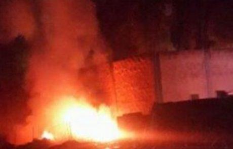כשחומר נפץ ובטריות נפגשים: שריפת ענק במחנה צבאי