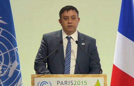 גבאי בוועידת האקלים בפריז: פיתוח טכנולוגיות חדשות הוא המשימה המרכזית שלנו