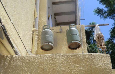 נמנע אסון בבניין דירות: נחשפו מכלי גז תלויים באוויר בדירה בחיפה
