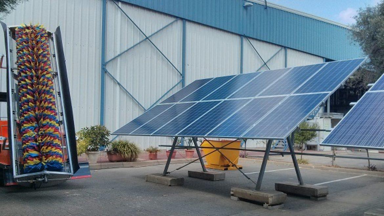לראשונה בישראל: מערכת ייעודית לניקוי שדות סולאריים קרקעיים