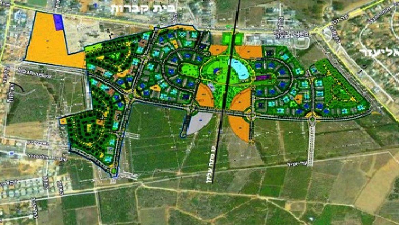 """שיכון ובינוי נדל""""ן תבנה שכונה ירוקה חדשה במתחם הפארק בעיר בחדרה"""