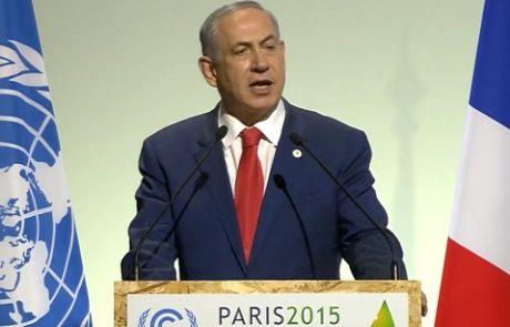 נתניהו בוועידת האקלים בפריז: ישראל משחקת תפקיד מרכזי במאבק בשינויי האקלים
