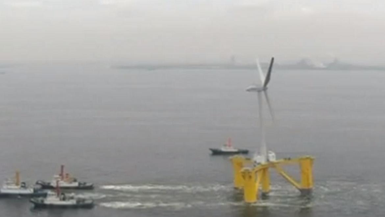 יפן השיקה בפוקושימה את טורבינת הרוח הצפה הראשונה בעולם
