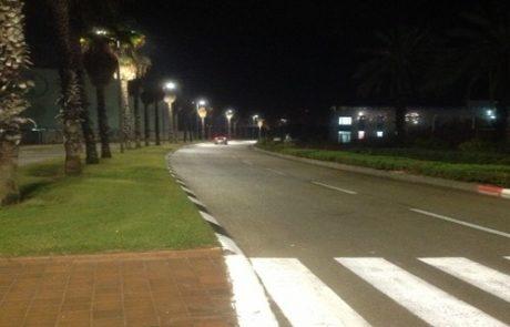 הפרויקט הגדול בישראל להחלפת תאורת חוץ לתאורת לד – יצא לדרך בקיסריה