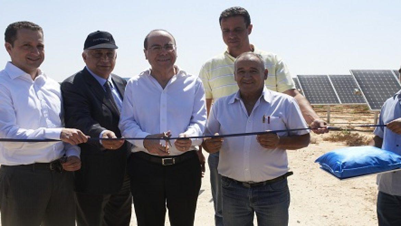 נחנך השדה הסולארי הגדול בישראל במושב מבטחים