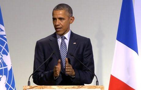אובמה בוועידת האקלים בפריז: יש לנו את הכוח לשנות את העתיד, אבל רק אם ננקוט באמצעים