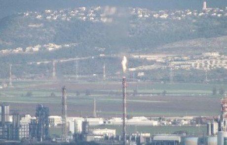 הלפיד של תחנת הכוח במפרץ חיפה בוער בעוצמה גדולה במיוחד