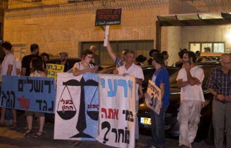 הפגנות הגז: דרעי ברח לרכבו בלי לדבר עם המפגינים