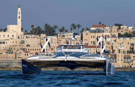 הסירה הראשונה בעולם המונעת על ידי אנרגיות מתחדשות עגנה בישראל
