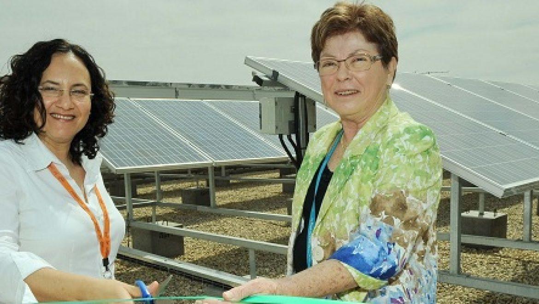 אינטל השיקה מערכת סולארית על גג המפעל בירושלים