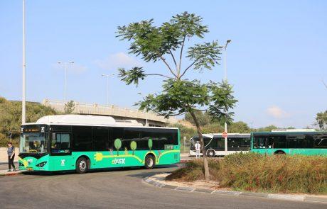 האוטובוסים החשמליים בחיפה חונכים את הנסיעה הראשונה