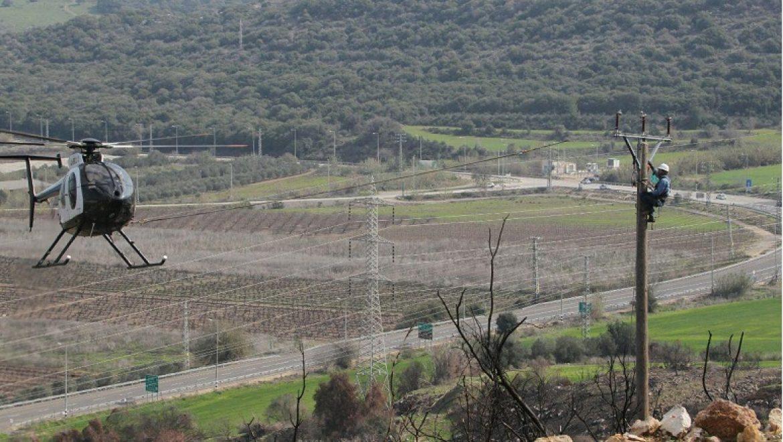 בעקבות גל השריפות: עבודות לוגיסטיות מורכבות לשיקום רשת החשמל באזור זכרון יעקב