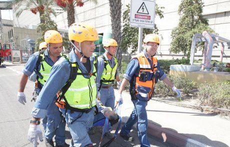 חברת החשמל תרגלה תרחישי עלטה, צונאמי ופגיעה בתשתיות קריטיות