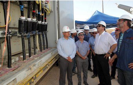 חברת החשמל חיברה לרשת את תחנת המשנה הניידת בנס-ציונה