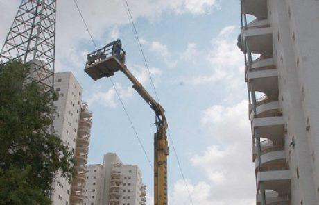 חברת החשמל מטמינה את קו החשמל העילי שחצה את גבעת שמואל