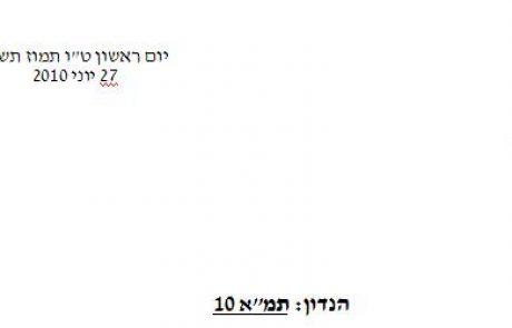 """בלעדי: מכתבי ראש המועצה האזורית רמת הנגב לראש הממשלה ושר הפנים בבקשה לדחיית תמ""""א 10"""