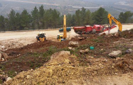 רשות הטבע והגנים החרימה ציוד מכני הנדסי לקבלן שפגע בערכי טבע מוגנים בירושלים