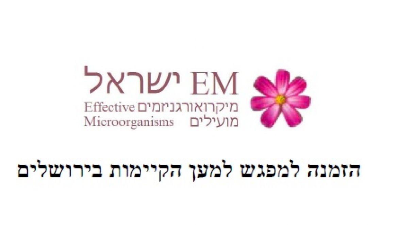 הזמנה למפגש למען הקיימות בירושלים