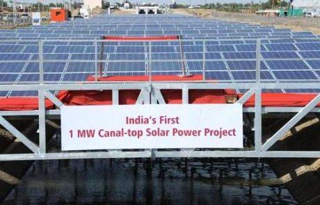 רשת התעלות בהודו תכוסה בפאנלים סולאריים