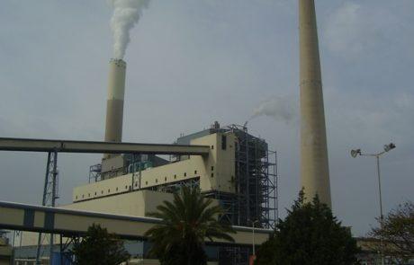 אחרי חדרה: דרישה להוצאת צו לצמצום כמויות הפחם בתחנת הכוח רוטנברג באשקלון