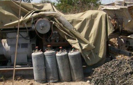 """פקחי משרד התשתיות תפסו מתקני גז פיראטיים במשקל כולל של 700 ק""""ג"""