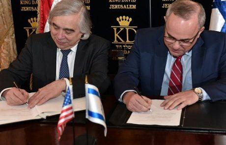 שרי האנרגיה של ארצות הברית וישראל חתמו על הסכם אנרגיה חדש