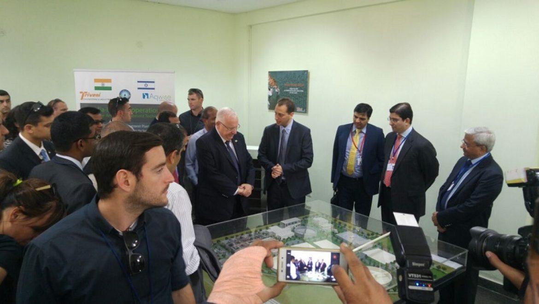 הנשיא ריבלין ביקר במתקן טיהור מים ביולוגי ישראלי בהודו