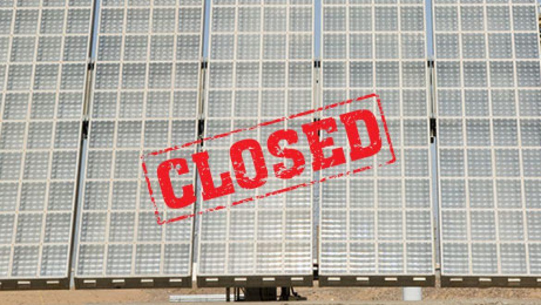 היצרנית הסולארית אמוניקס סוגרת מפעל בנבאדה