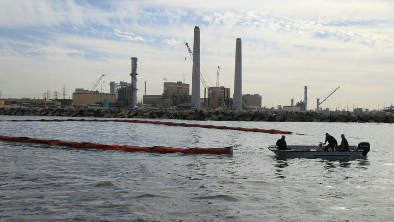 מזוט דלף מצינור הדלק הימי של חברת החשמל בסמוך לתחנת הכוח אשכול שבאשדוד