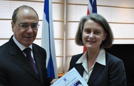 שגרירת אוסטרליה דנה עם שר האנרגיה על עסקת וודסייד