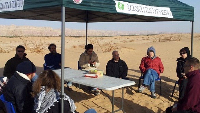 חברי הנהלת החברה להגנת הטבע קיימו ישיבה מיוחדת בדיונות חולות סמר